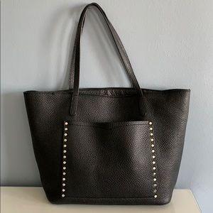 Rebecca Minkoff Black Leather Studded Tote